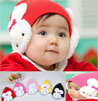 baby flap - Baby Toddler Kids Boys Girl Winter Ear Flap Warm Hat Beanie Cap Crochet Rabbit