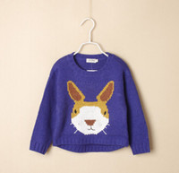 baby ingredients - 2015 winter brand children outerwear Baby girl with bunny jumper sweater wool ingredient purple suit age kids