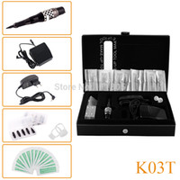Wholesale K T Professional Tattoo Machine kits Permanent makeup eyebrows pen cosmetic Machine Complete Tattoo Machine kits
