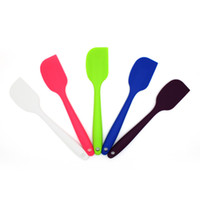 baker stock - 2pcs Kitchen Silicone Cake Spatula Baker Tools Mixing Batter Scraper Brush Butter Mixer Cake Tool