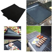 Cheap 2pcs 40 *33cm Reusable Non-stick Surface BBQ Grill Mat Baking Tools Easy Clean Grilling