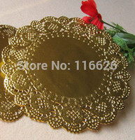 Wholesale 4 inch Round gold cake paper doilies embossed lace paper placemats gift decorative kit