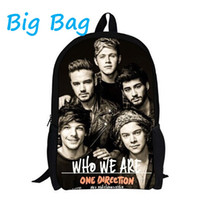 Wholesale 2015 New Fashion One Direction Backpack For Kids Canvas d One Direction Children Backpack School Boys School Bag Five Color