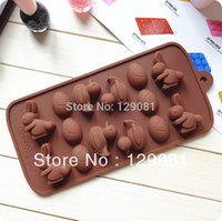 baking duck - Silica gel chocolate mould silica gel cake mold little duck rabbit child Cake Cup Cake pan Baking tools