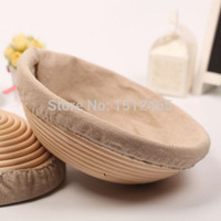 basket liners - Round Brotform Banneton Rising Dough Basket Bread Proving Rattan Basket With Linen Liner cm BL01