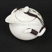 porcelain teapot white - new ml white ceramic teapot porcelain kung fu set drinkware service tea cup sale