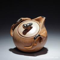 antique stoneware - Yixing stoneware teapot antique teapot tea set ceramic pots pure handmade coarse pottery hand pot