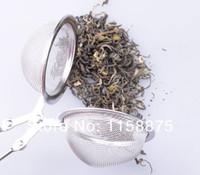 Wholesale Funlife Tea lotTea Mesh Ball Infuser Filter Teaspoon Squeeze Strainer Stainless Steel Tea Tools Seasoning Box teasetBD001