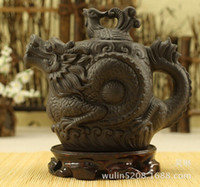 Wholesale Authentic yixing teapot dragon and phoenix tea pot ml big capacity purple clay tea set kettle kung fu teapot