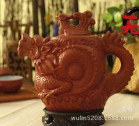 big ceramic pots - Authentic yixing teapot dragon and phoenix tea pot ml big capacity purple clay tea set kettle kung fu teapot