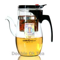 art teapots - Brand KAMJOVE ml Press Glass Art Tea Cup Patented New Generation Auto open Flower Teapot Christmas Presents Series TP787