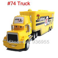 cars 2 diecast - Pixar cars Diecast Metal Sidewall shine Hauler Mack cars truck toys Christmas gift