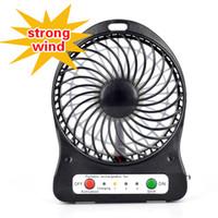 ac ventilator - Strong Wind Mini USB Fan Adjustable Speed Portable Rechargeable Ventilator Cooling Cooler Desk Fan Handheld Small Fan