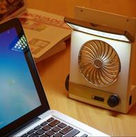 Wholesale Solar in rechargeble electric solar fan emergency solar fan with let light Home outdoor Multifunction led light solar fan