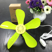 ac rotary switch - Plastic Rotary Vane Breeze Ventilator V Small Portable Ceiling Fan Students Mini Ceiling Fan Natural Wind Portable Ventilador