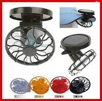 baseball knobs - New Portable Mini Solar Powered Energy Clip on Cap Hat Cooling Fan for Outdoor Fishing Golf Baseball