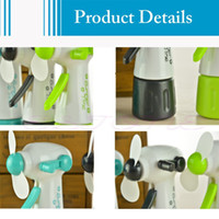 Wholesale C18 Newest New Mini Portable Handheld Cooling Water Spray Mist Fan Spray Bottle