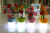 Wholesale J4008 USB flowerpot lamp Fan
