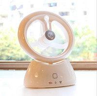ac fan auto - Creative USB rechargeable portable mini fan Student Office auto mute spray humidifier fans for Home Office