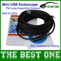 Compra Tasa mini cámara de vídeo-CNP Libre 7M USB Endoscopio de 7 mm de Diámetro Mini Cámara de Inspección Con 6 LEDs de Clasificación IP67 resistente al agua Foto ShottingVideo de Grabación