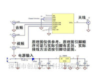 audio appliances - The UHF wireless video and audio transmission module diagram of FPV TV card mobile phone receiver audio appliances