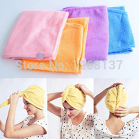 Wholesale Magic Twist Hair Dryer Quick Drying Towel Salon Wrap Turban Cap Hat New A1148 yMGxHi