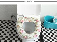 adding toilet - Zipper jacket type add thick cloth art the toilet mat Warm toilet seat