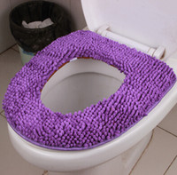 Wholesale HD0157 personalized creative toilet seat Cotton chenille tufting Toilet Seat Cover toilet O ring pad mats