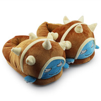 the packaging of shoes - LOL Armordillo Rammus soft plush doll slippers Package the heel Plush Indoor The film of indoor slippers house home shoes