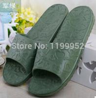 plastic slippers - Bathroom slippers home slippers summer sandals and slippers slip to love men and women couple home interior plastic slippers