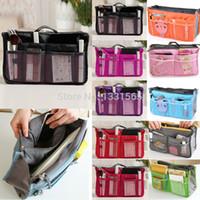 Wholesale Large storage bag Hot Women Purse Handbag Organizer Organiser Travel Travelling Bag Insert Liner cosmetic bag