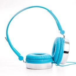 Wholesale Rockpapa Heart Pattern Over ear DJ Headphones Headsets Earphones for Boys Kids Girls Childrens Teens Adult MP3 MP4 DVD PC Blue