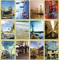 christmas cards - bentoy vintage European Landscape City Impression postcards Christmas Card Greeting Card set Postcard Gift