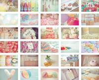 Freeshipping de la vendimia colores del caramelo tarjetas postales 30pcs / set tarjeta de Feliz Navidad / tarjeta de felicitación / tarjeta del regalo / de la boda / regalo de la manera