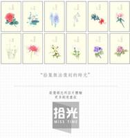 envío de la vendimia de la flor tarjetas postales Lengua 30pcs / set / tarjeta de regalo tarjeta de regalo / Fashion de la tarjeta de cumpleaños / de felicitación