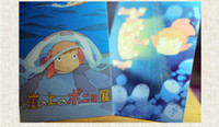 Sueño libre del envío del diseñador vintageHayao Miyazakiboxed tarjetas postales 16pcs / set tarjeta de cumpleaños / tarjeta de felicitación / tarjeta de regalo de regalos / Moda