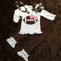 baby football outfits - PRE ORDER girls football outfit clothing sets girls ruffle pant sets baby girls boutique clothes with necklace and bow
