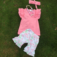 baby clothes bulk - bulk sell girls clothing sets children flower clothes cute baby kids suits suit retail with accessories