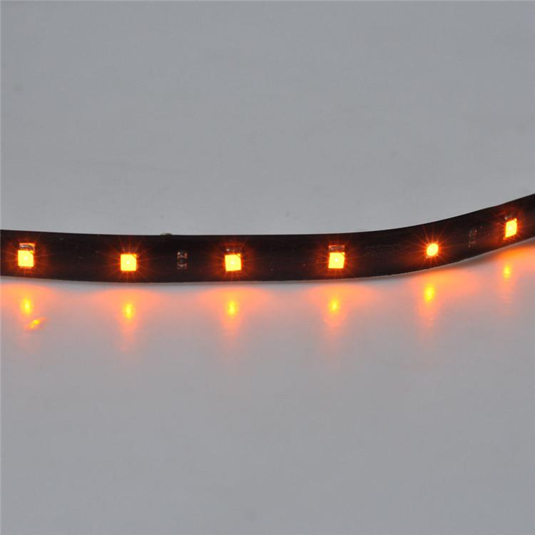 5 *15 LED 12V 30cm Yellow Car Flexible Waterproof Strip Light Car LED lighting Undercar Auto Decoration Lamp for Yacht Car