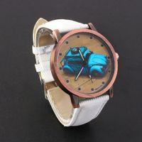 band buy watch - Women Fashion Little Car Jean Fabric Band Quartz Analog Wrist Watch Free To Buy