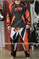 Wholesale KTM POWERWERR Jersey pants Race Motocross Suit motorcycle jersey moto clothing set Racing Cross country off road T shirts