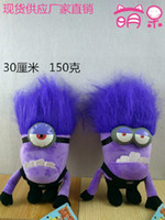 Wholesale DESPICABLE ME PURPLE EVIL MINION quot cm D PLUSH DOLL With Tag Christmas Gift For Children EMS