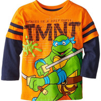 Wholesale Teenage Mutant Ninja Turtles T shirt Boy Child Shirt Long sleeved T shirt Shirt New