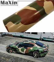 Wholesale Large Digital Army Military CAMO Camouflage Woodland Vinyl PVC Motorcycle Car Stickers Wrap Decal Steet quot x60 quot Roll