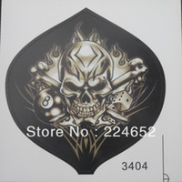 Cheap Motorcycle Car Auto Racing Decal Sticker Skull Fire Flames Free Shipping