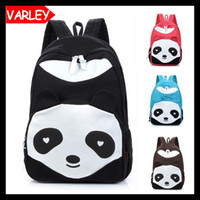 Wholesale Cute cartoon panda women backpack Leisure canvas backpack for teenage girls rucksack printing school bags back pack