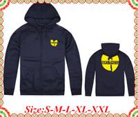 achat en gros de jaune expédition tang-En ligne Stock Livraison gratuite Wu Tang Brand New Arrivée Jaune Imprimer Streetwear Zipper Homme Femme Hoody