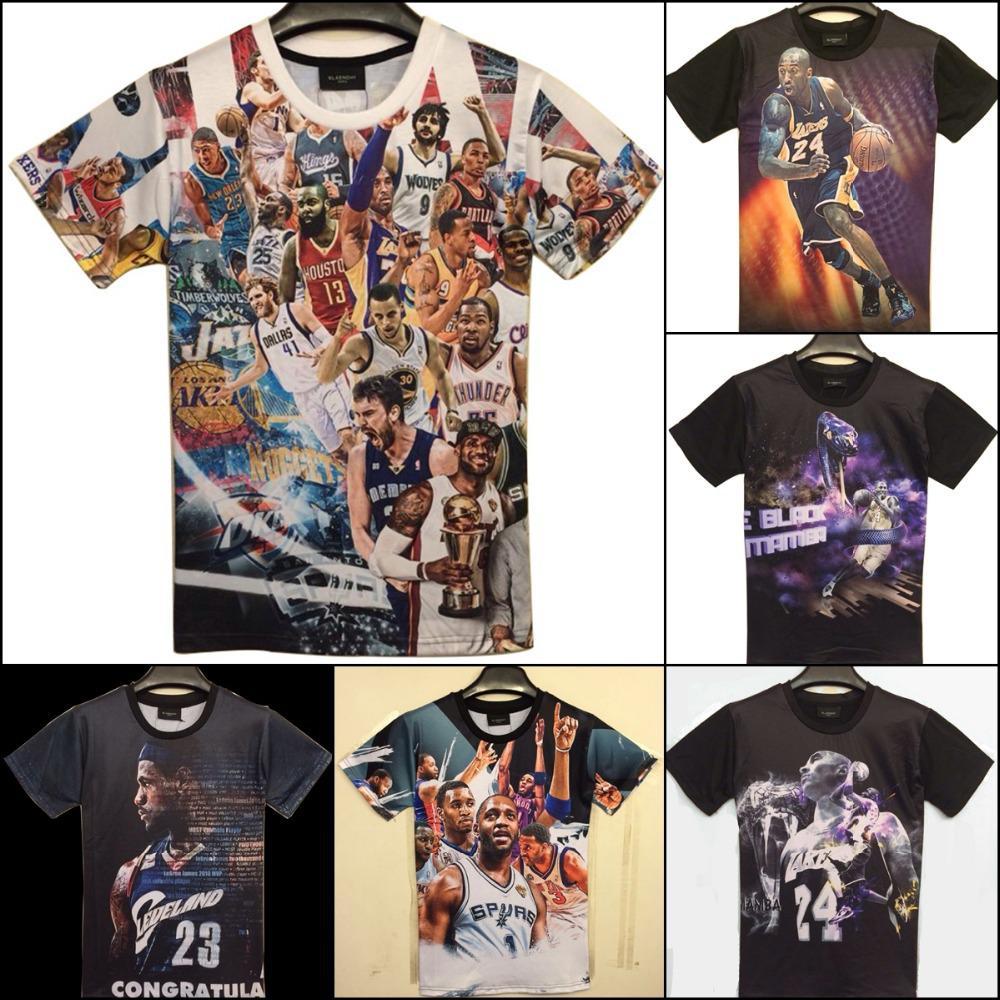Shirt new design 2015 - New Fashion 2015 Men S 3d Print Kobe Bryant Usa All Star Basketball Sports Game T Shirt Men Funny T Shirt Shirts Top Tees Tee Designs Neck T Shirts From