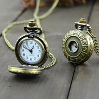 Wholesale New hot selling Vine Bronze Steampunk Quartz jewelry Chinese Zodiac design pendant pocket watch with chain