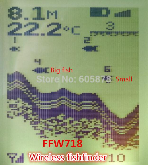 ffw718 digital wireless dot matrix fish finder fishfinder sonar, Fish Finder